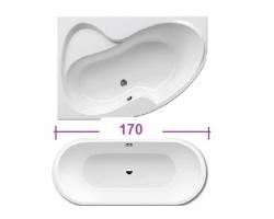 акриловая ванна 170см